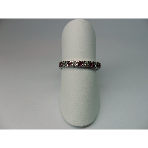 Row ring with rubies