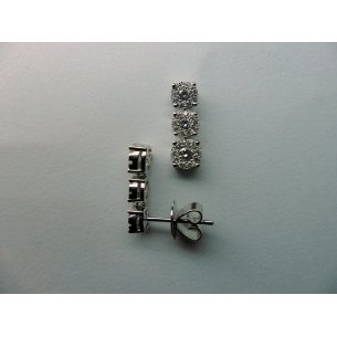 Halo Earrings 3st. White Gold