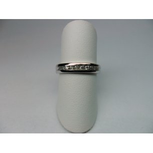 Rail Ring Witgoud 0.25 crt.