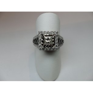 Princess Entourage Ring Witgoud