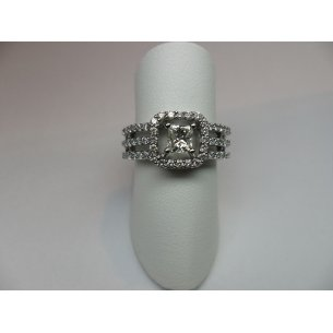 Princess Open Entourage Ring Witgoud