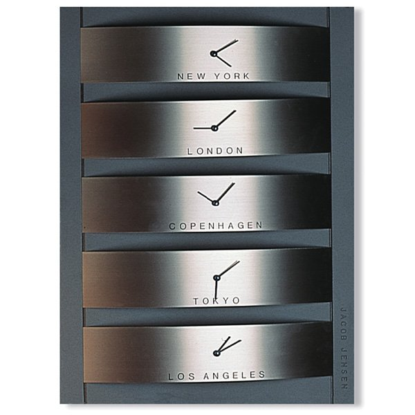 Jacob Jensen World Timer Clock Series 310