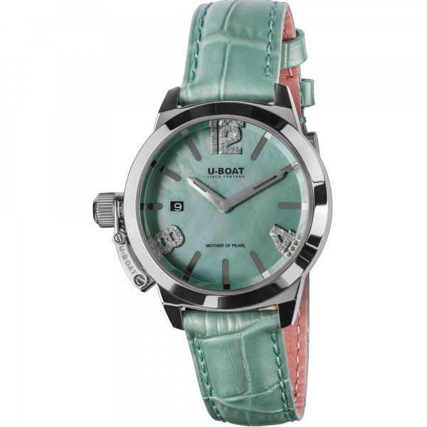 U-Boat Classico Turquoise Mother of Pearl Horloge 8481