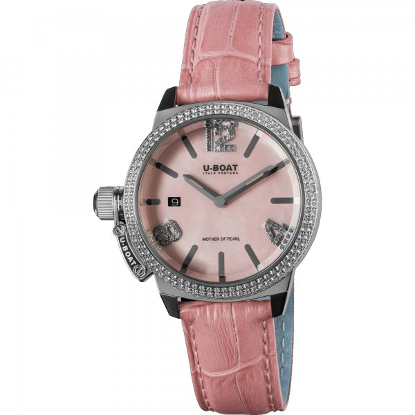 U-Boat Classico Pink Mother of Pearl Precious Horloge 8483