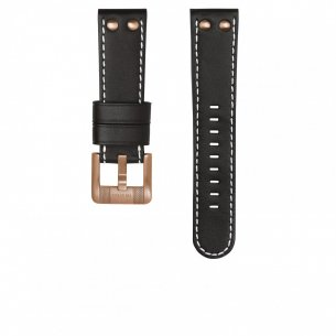 1751d4df0f6 TW Steel Strap Black White Stitching Rosegold Smooth Buckle