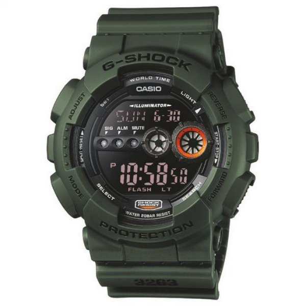 G-Shock Classic Military Series Horloge GD-100MS-3ER