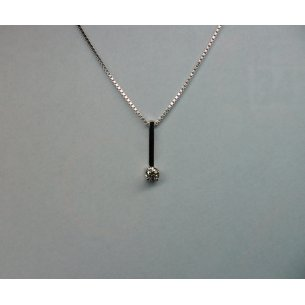 Bar Pendant White Gold 0.14 crt.