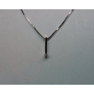 Bar Pendant White Gold 0.03 crt.